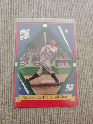 "Babe Ruth ""The called shot"" baseball card for Sale in Boca Raton, FL"
