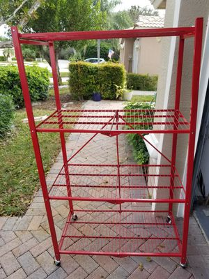 Red metal storage shelves for Sale in Royal Palm Beach, FL