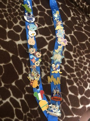 Disney lanyard with pins for Sale in Santa Ana, CA
