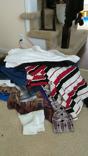 Big and tall men clothing bags for sale and gym shoes and dress shoes for Sale in Detroit, MI