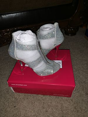 Silver glitter high heels for Sale in Bloomington, IL