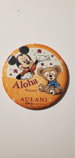 Disney AULANI Resort and Spa Collectible Button Pin Mickey Mouse and Duffy ALOHA for Sale in Auburn, WA