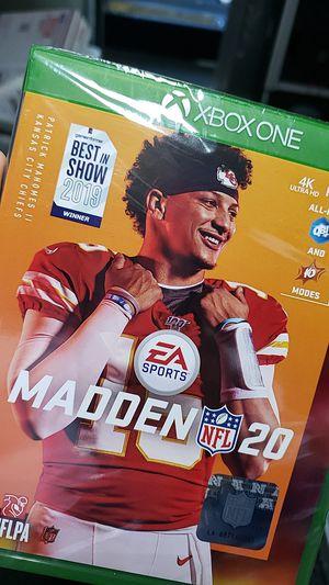 Madden 20 Xbox one for Sale in Vernon, CA