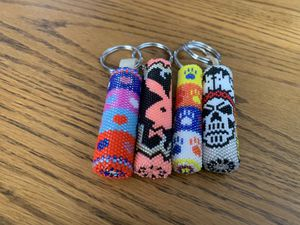 Handmade beaded keychains made in the USA many to choose from 25.00 each until gone for Sale in Missoula, MT