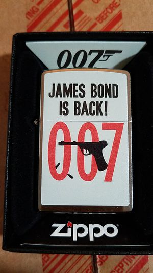 Zippo James bond brushed chrome 29563 for Sale in Los Angeles, CA