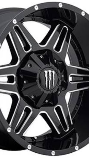 20x12 black and milled 5x127 and 5x150 wheels for Sale in La Habra Heights, CA