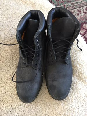 TIMBERLAND BLACK LEATHER BOOTS SIZE 11 for Sale in Lake Geneva, WI