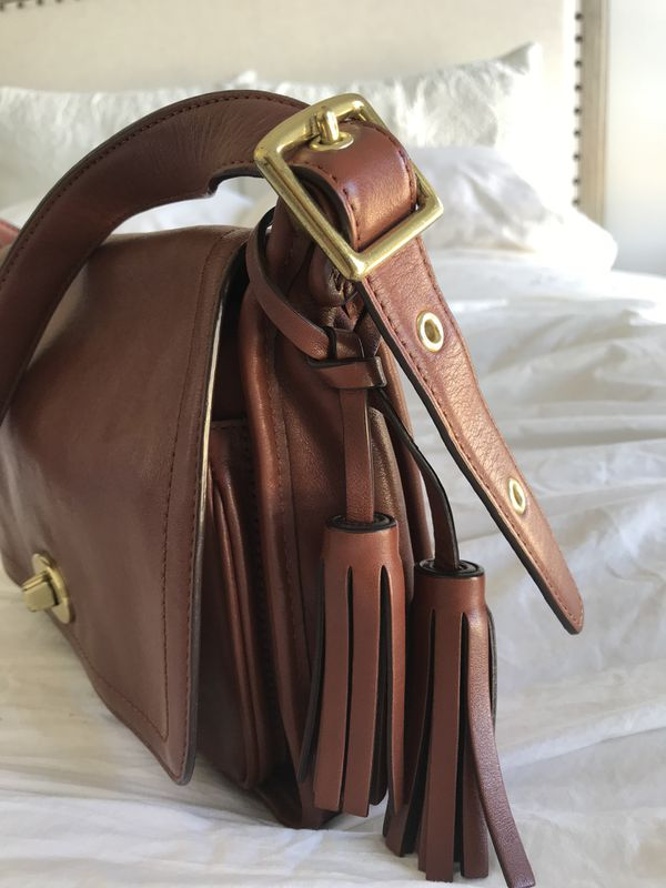 Coach crossbody genuine leather bag