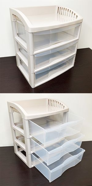 """New $15 each 3-Tier Plastic Desk Organizer Tray Drawer for Home Office Paper, 14x10x16"""" for Sale in South El Monte, CA"""