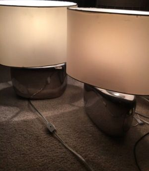 Pair of Mirrored Lamps $40 for Sale in Los Angeles, CA