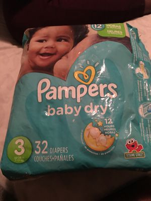 Pampers size 3 for Sale in Cary, NC