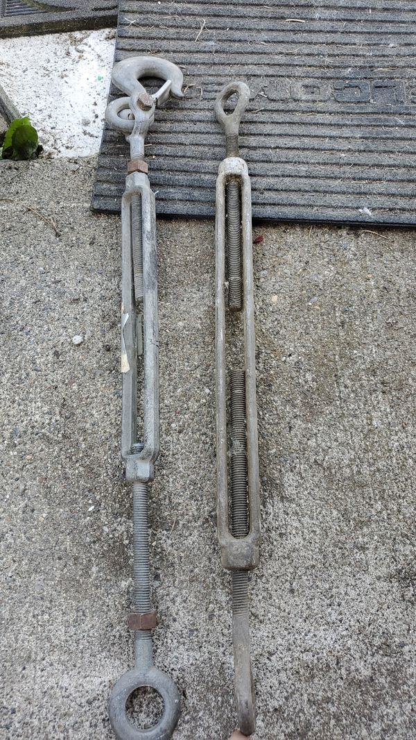 Large turn buckle , tie downs ,