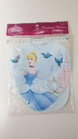 Cinderella Birthday Banner for Sale in Los Angeles, CA
