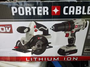 Porter Cable 20V Lithium Drill and Skill Saw for Sale in LXHTCHEE GRVS, FL