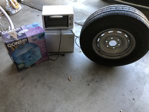 Mini fridge, football, spare tire good, Toaster oven, Free Free Free for Sale in San Diego, CA