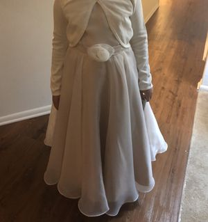 Soft blush satin and organza flower girl dress for Sale in Columbia, MD