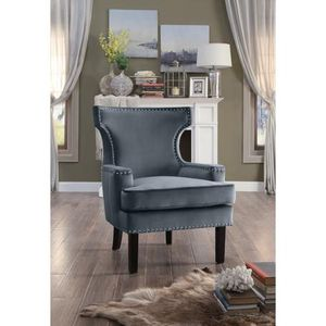 Lapis Gray Velvet Accent Chair by Homelegance for Sale in Jessup, MD