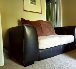 Leather and microfiber loveseat for Sale in Knoxville, TN