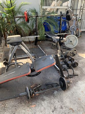 Home Gym Heavy duty weights and bars for Sale in Long Beach, CA