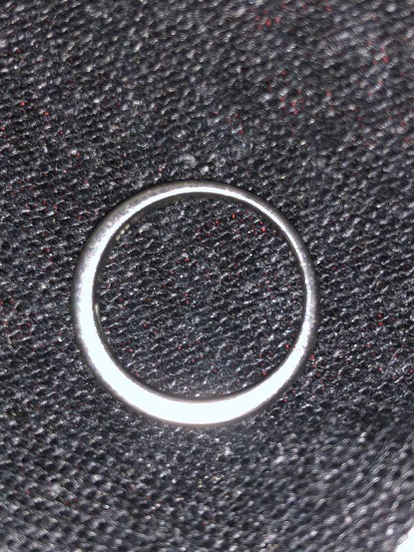 Men's platinum with diamonds ring