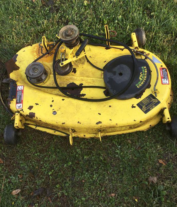 """John Deere gt225 42"""" convertible mower deck"""