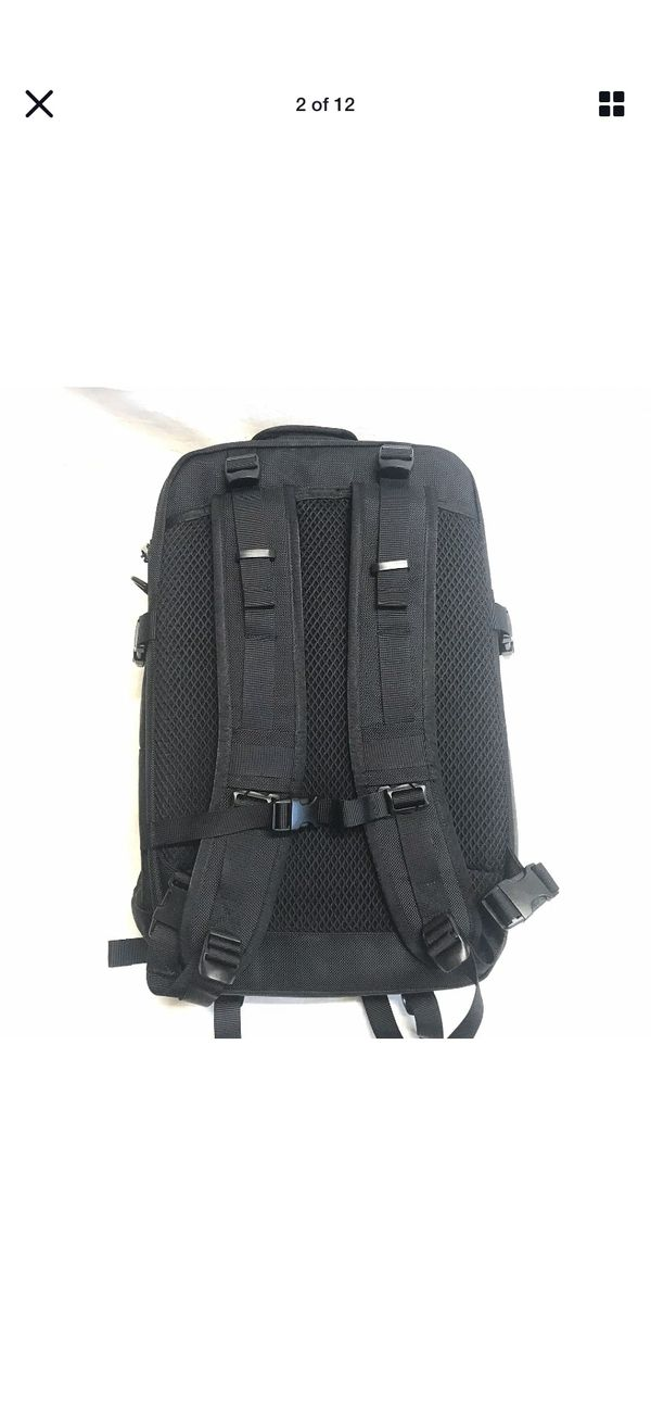 "DSPTCH Google - LAPTOP FRIENDLY DAYPACK BACKPACK BLACK NYLON 19""H -RARE"