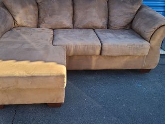 Ashleys Furniture Sectional Sofa Couch L Shaped Revirsable Chaise Lounge Ottoman FREE DELIVERY for Sale in Phoenix,  AZ