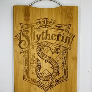 Harry potter Slytherin laser engraved bamboo high quality cuttingboard kitchen pop for Sale in Los Angeles, CA