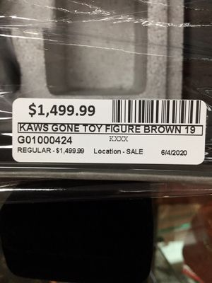 Kaws gone toy figure brown 19 collectors for Sale in Oceanside, CA
