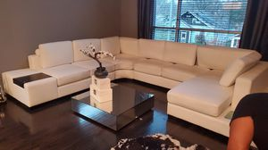 Like new white leather sectional couch for Sale in Atlanta, GA