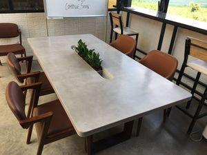 Concrete Dining Conference Table indoor outdoor for Sale in Santa Ana, CA