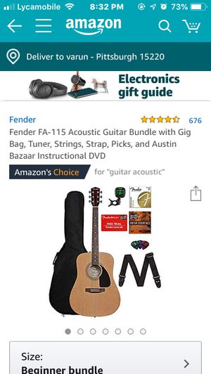 Fender acoustic guitar for Sale in Pittsburgh, PA