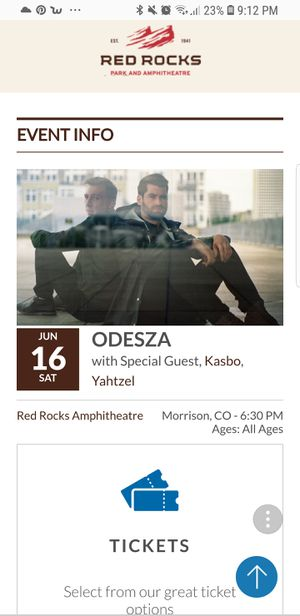 Odesza, Red Rocks! for Sale in US