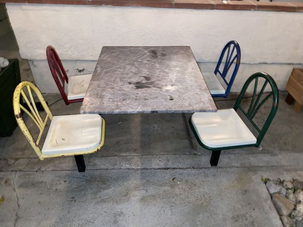 Marble top kids/restaurant table