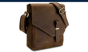 Leather Messenger Crossbody Bag for Men NEW ½ PRICE for Sale in Virginia Beach, VA