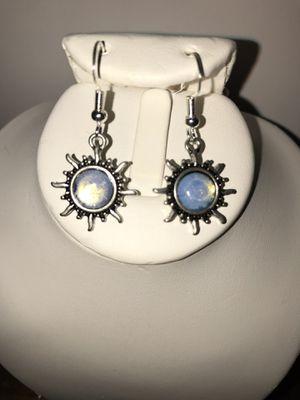 Moonstone in silver earrings for Sale in Longwood, FL
