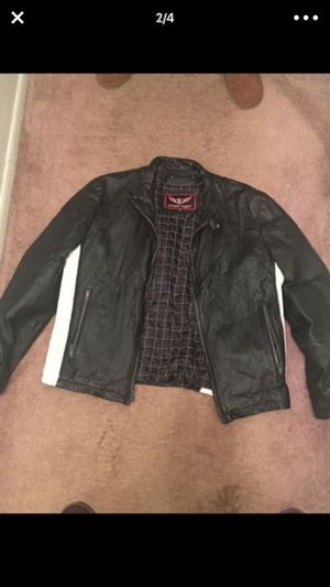 Leather biker coat for Sale in Cleveland, OH