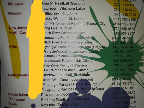 Tickets to paintball usa locations