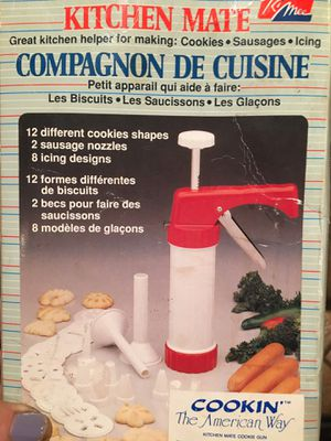 Cake decorating and cookie press with all attachments for Sale in Bradbury, CA
