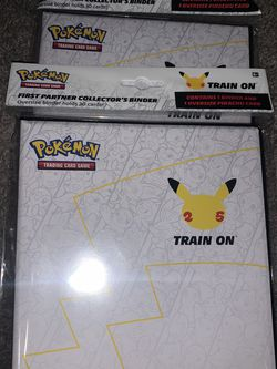 2 Pokemon 25th Anniversary Binders (For Big Cards) for Sale in Tampa,  FL