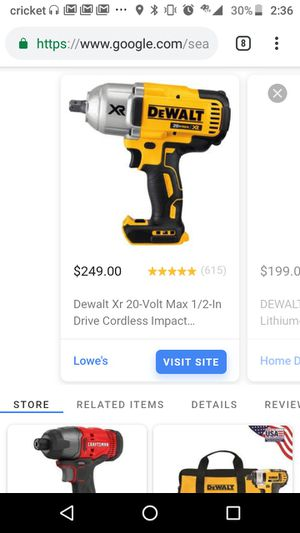DeWalt impact wrench for Sale in Baltimore, MD