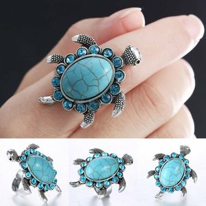 *NEW ARRIVAL* Adjustable Sea Knuckle Turtle Lover Turquoise Ring Silver *See My Other 300 Items* for Sale in Palm Beach Gardens, FL