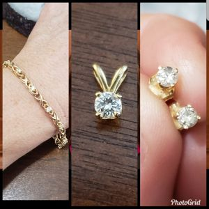 14 k diamond set.. for Sale in San Jose, CA