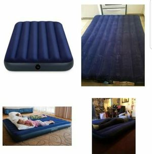 New Airbed Air Mattress Queen Size camping bedding hiking air bed portable adult kids outdoor tent for Sale in Brooklyn, NY