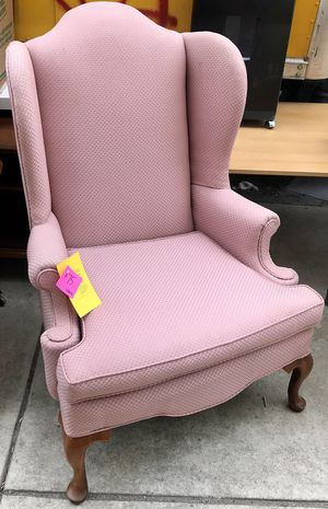Pink Pattern Wingback Chair for Sale in Philadelphia, PA