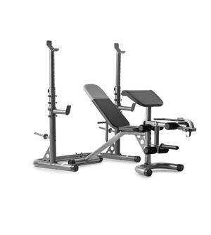 Brand New in Box Weider XRS 20 Adjustable Olympic Workout Bench with Independent Squat Rack and Preacher Pad for Sale in West Covina, CA