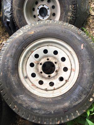 Set of 5 heavy duty trailer tires! for Sale in Austin, TX