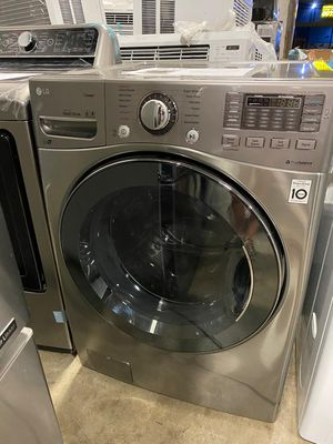 😍 LG Ultra large Washer Stainless Steel for Sale in Dallas, TX