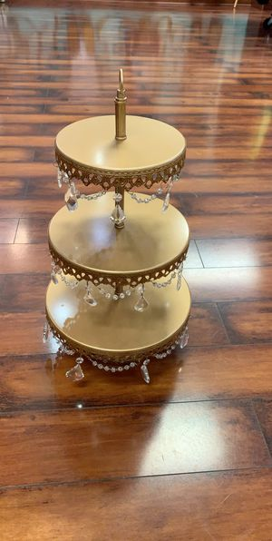 Gold crystal bronze stand cupcake counter retail boutique for Sale in West Bloomfield Township, MI