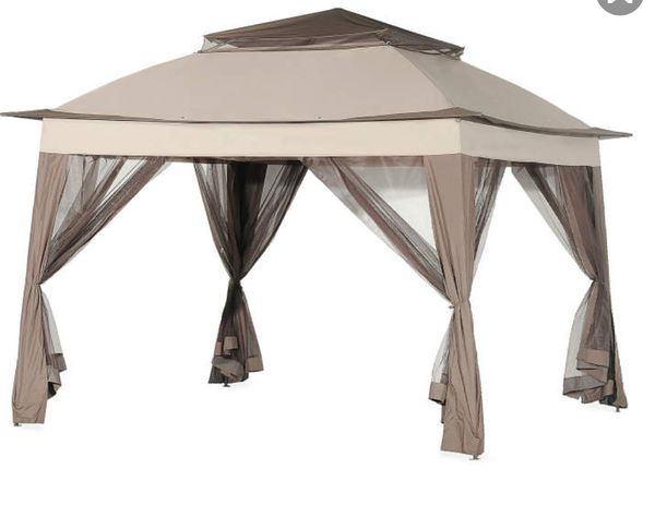 Pop Up Canopy Sun Shade Gazebo Top Patio Grill Cover Party Bbq Site